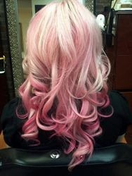 pink ombre via behindthechair
