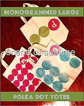 monogrammed polka dot bags 6