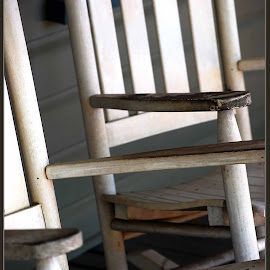 Rocking Chairs by Elizabeth Kraker - Artistic Objects Furniture ( chairs, white, gray, furniture, antique, Chair, Chairs, Sitting )