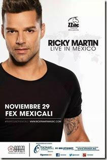 Ricky martin en Mexicali precios y mapa de lugares
