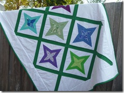 Diamond star quilt on the fence