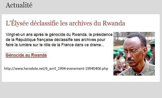 desclassificacion dels arquius franceses Ruanda