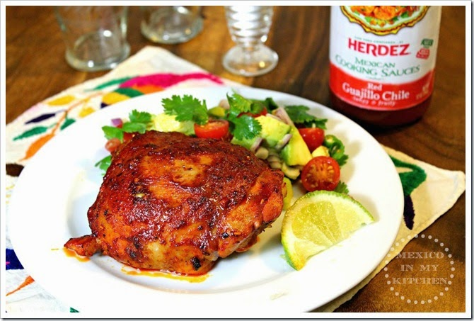 Roasted Chicken Thighs Adobadas By Mexico In My Kitchen