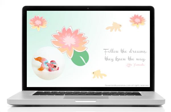 pink fish schermo