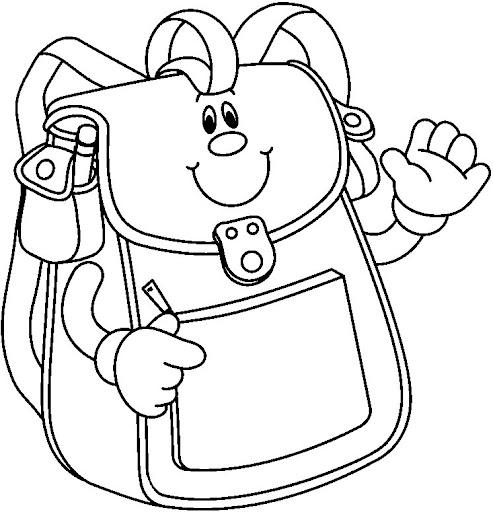 Dibujos de mochilas para colorear