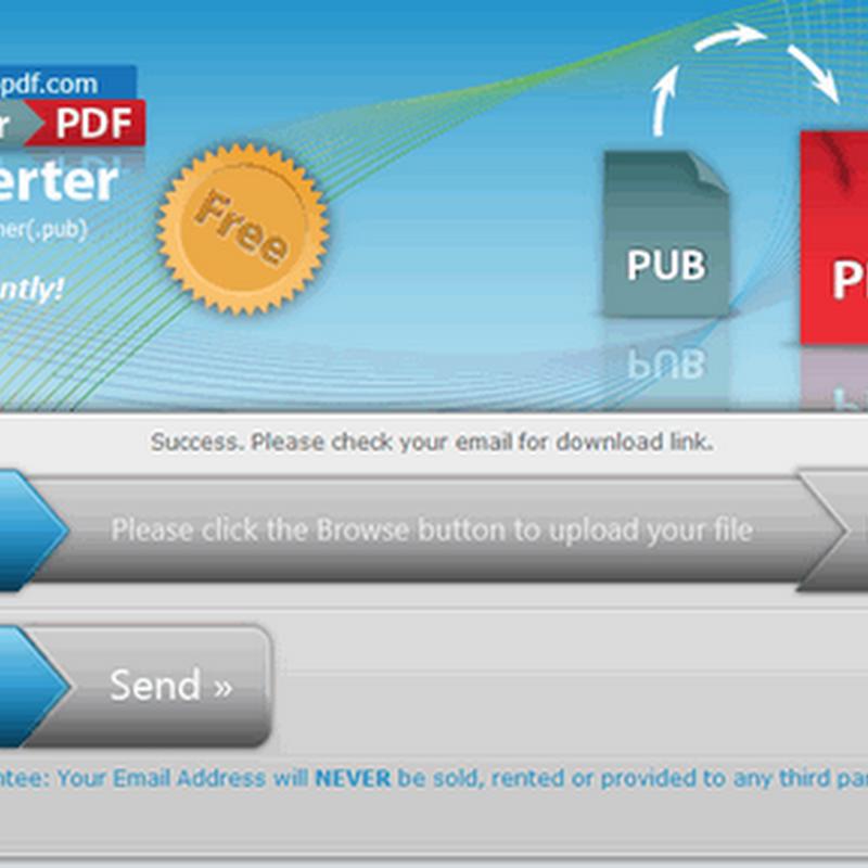 Publisher to PDF Free Online – 將PUB格式轉成PDF的免費線上工具
