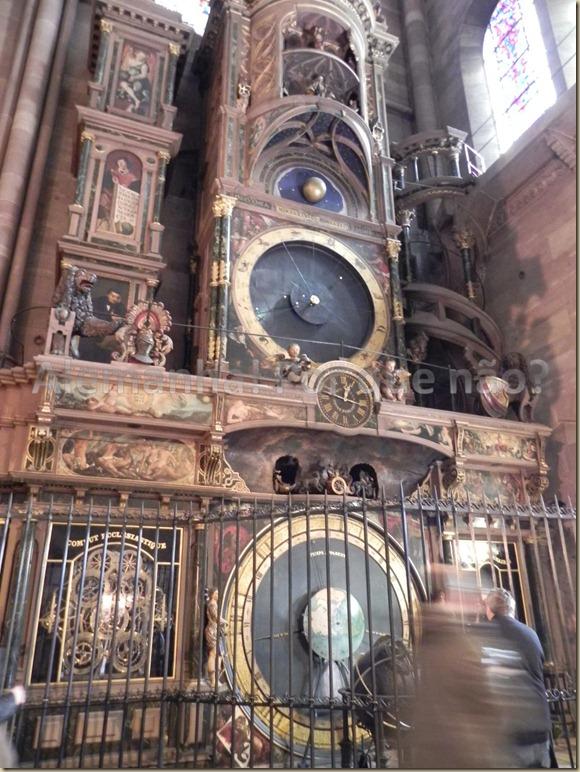 O relógio astronômico da catedral de Strasbourg