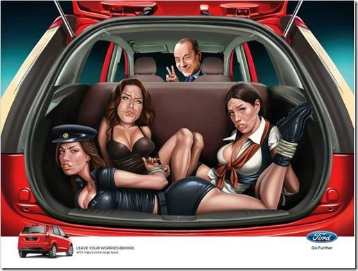 the ford india Berlusconi kardashians ad