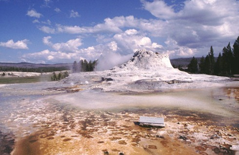 Cliff Geyser near Old Faithful - YNP