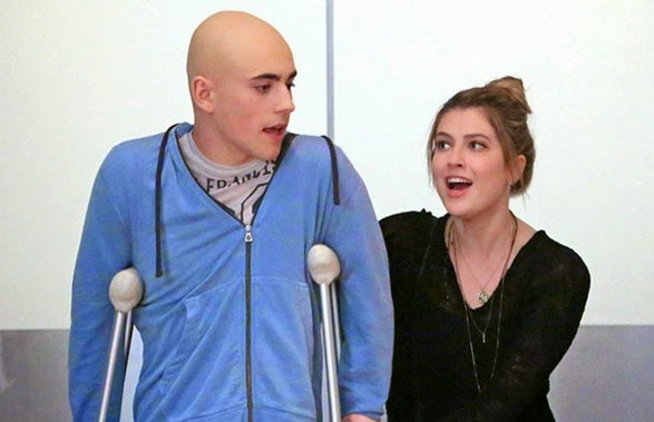 """RED BAND SOCIETY: L-R: Leo (Charlie Rowe, L) and Kara (Zoe Levin, R) in the """"Ergo, Ego"""" episode of RED BAND SOCIETY airing Wednesday, Nov. 5 (9:00-10:00 ET/ PT) on FOX. CR: Tina Rowden / FOX. © 2014 Fox Broadcasting Co."""