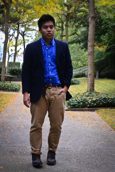 Blue Wool Blazer (2 of 1)
