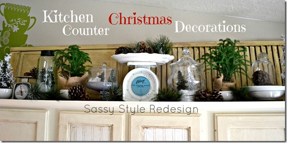Kitchen Counter Christmas Decorations with Sassy Style Redesign