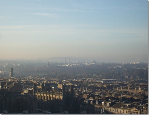 Misty Edinburgh Calton Hill