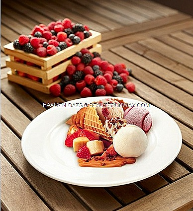 Haagen-Dazs Summer Berries & Cream Berry Blush Frizz Drink Ice cream healthy fruity desserts pints minicups cafe supermarket raspberries strawberries blue black berries
