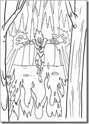 desenhos para colorir do Ben 10 chama