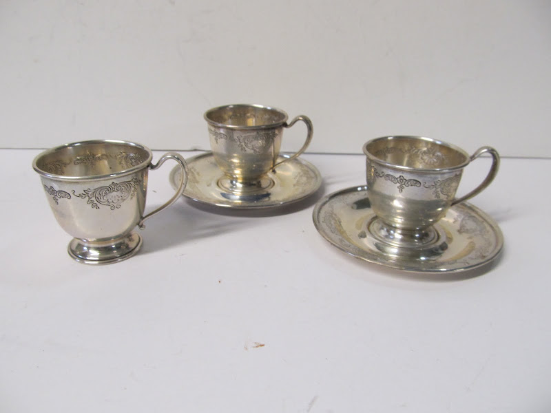 Sterling  SIlver Demitasse Set