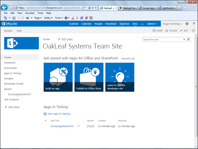 Oakleaf systems lightswitch html 5 client preview 2 - Is sharepoint included in office 365 ...