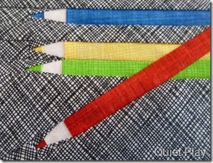 Paper pieced pencils