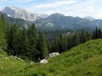 Debeli vrh, Triglav in Ogradi s planine Viševnik