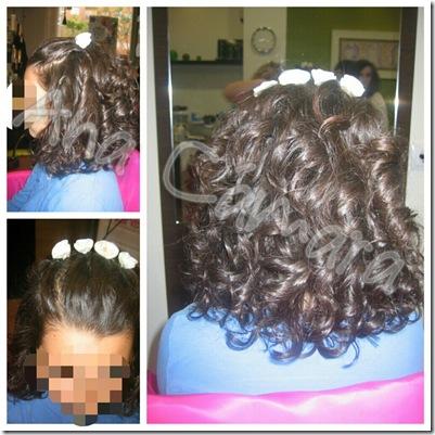 Peinado comunion chica