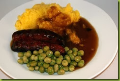 Sausages and swede mash