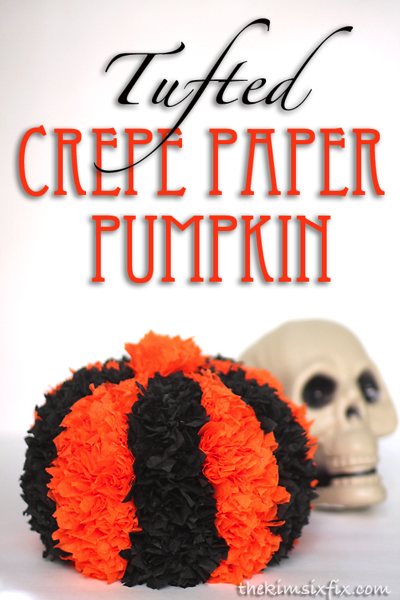 Tufted crepe paper pumpkin