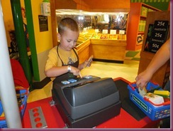 Children's Museum - Connor at Register 2