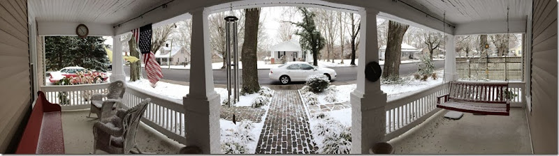 Front porch snow panoramic 1 21 14