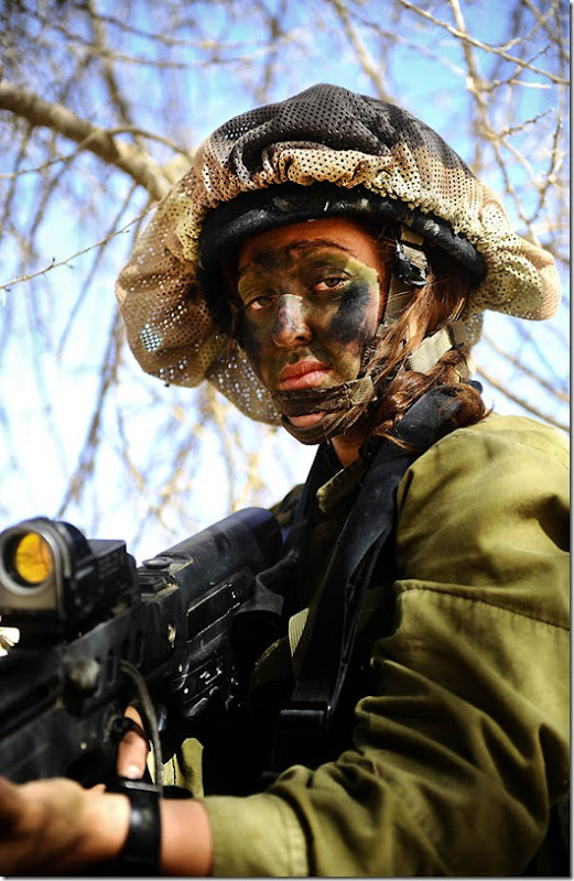 """""""Close Up"""". Soldiers of the Caracal co-ed battalion during a platoon exercise in southern Israel, 2012."""