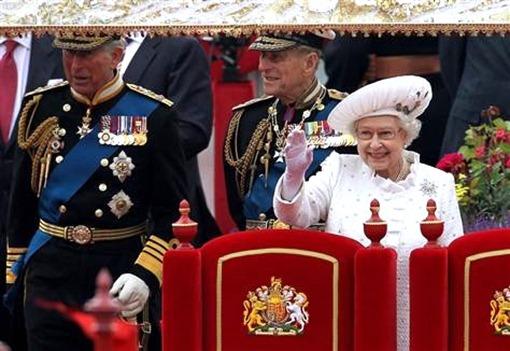 Бриллиантовый юбилей королевы Елизаветы II: принц Чарльз, герцог Энинбургский и королева