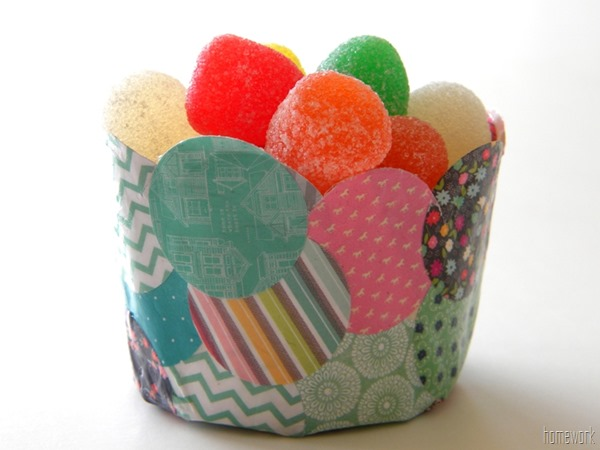 confetti papier mache bowl by carolyn's homework