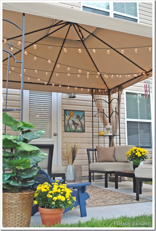 Outdoor accessories for patio space
