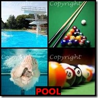 POOL- 4 Pics 1 Word Answers 3 Letters