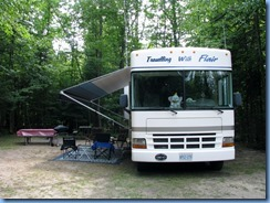 7120 Restoule Provincial Park - Kettle Point Campground - our motorhome in our campsite # 404