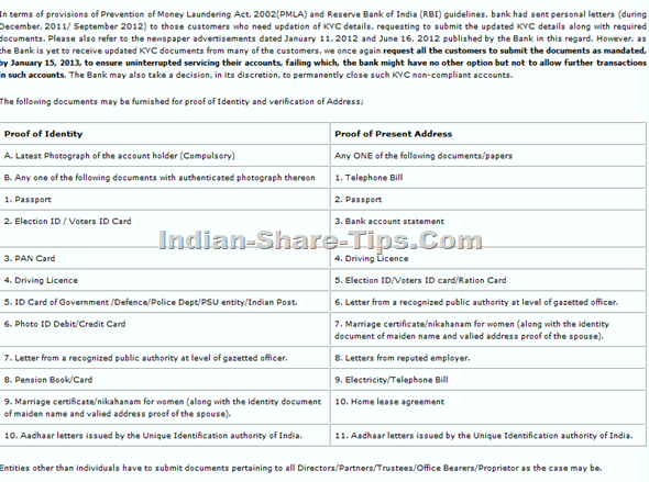 idbi kyc DOCUMENTS
