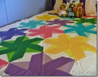 Simple quilting on Bloom Bloom Pow