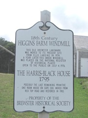 Cape Cod Brewster windmill Higgins farm