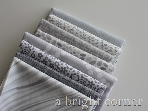 stack of gray fabrics