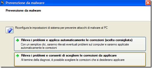 Prevenzione da malware Fix it Microsoft avvia diagnostica