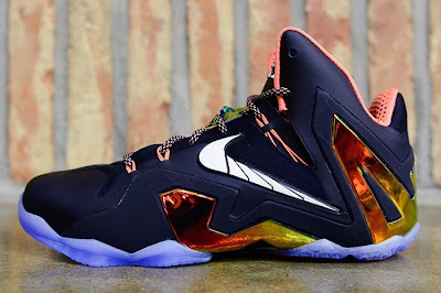 nike lebron 11 ps elite black mango 2 01 Release Reminder: Nike LeBron 11 Elite Gold Collection