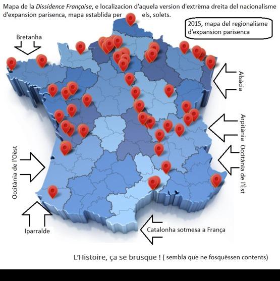 mapa de l'extrèma-dreita nacionalista francesa