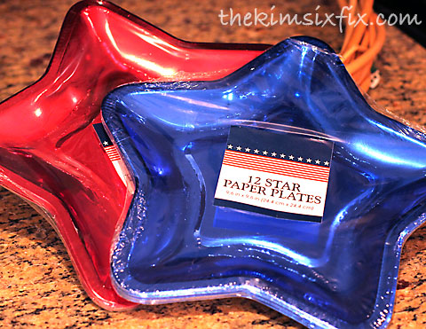 Star paper plates