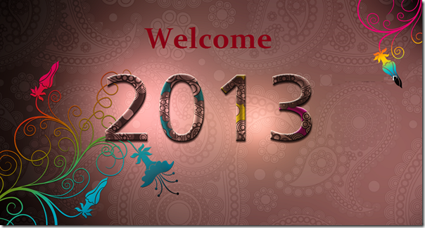New Year 2013 Fresh HD Wallpapers