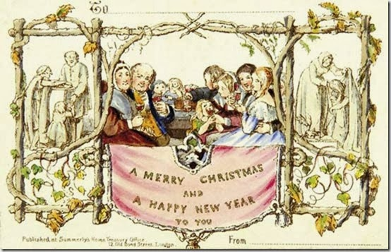Sweet tea and simplicity christmas traditions trivia for Who commissioned the first christmas card in 1843