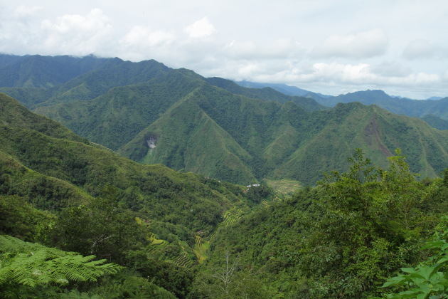 Aerial view of Batad and its surroundings