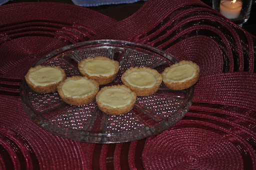 Lemon tarts adapted from the lemon tassie recipe in