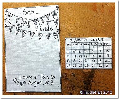 Calendar Save The Date.