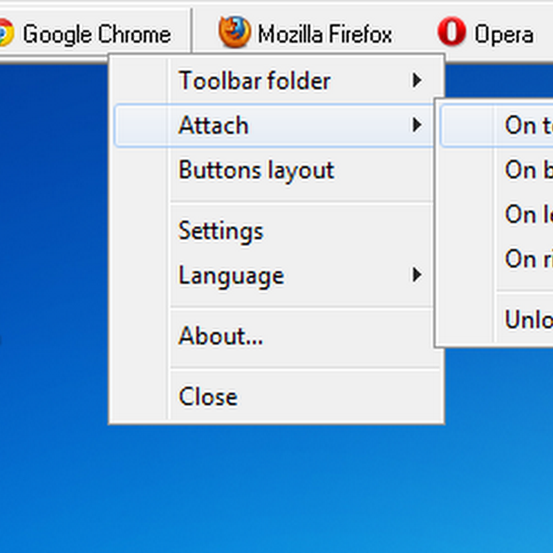 OldBar: Add Detachable Custom Toolbars to Windows 7 Desktop