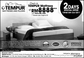 Tempur-Mattress-Special-Offer-2011-EverydayOnSales-Warehouse-Sale-Promotion-Deal-Discount