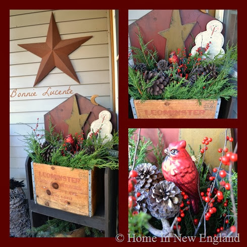christmas porch collage